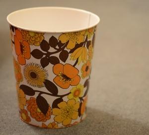 1960s floral bin