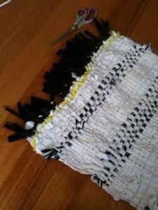 Black and White Rag Rug